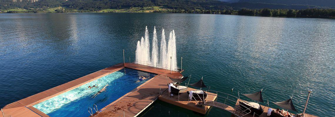 Wellnessvergnügen mit Highlights: Seebad, Seesauna und Infinity Pool